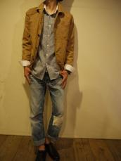BLUE BLUE JAPAN(OKURA)ストレッチツイルカキシブハンティングジャケット