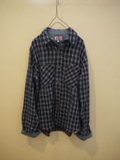 GAIJIN インディゴチェックL/Sシャツ