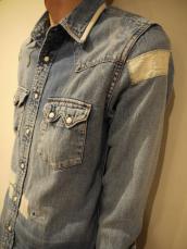 BB フラワーフレームウエスタンシャツ