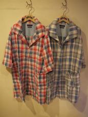 BB インディゴチェック フードコートシャツ