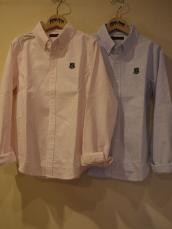 BB オックスストライプ ワッペンボタンダウンL/Sシャツ
