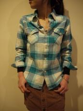スプリングネル レディースL/Sシャツ