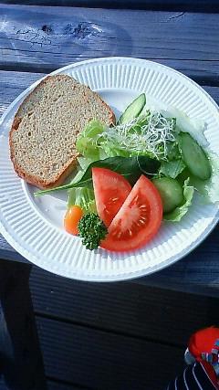 サラダと無塩のパン