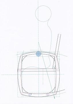 ロッキングチェアの図面