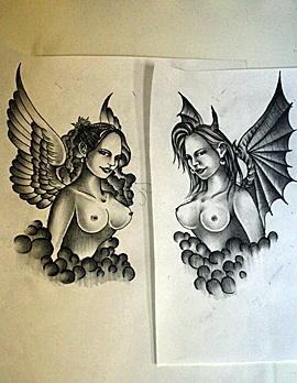 天使と悪魔紙