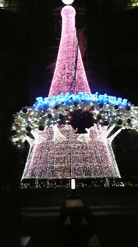 夜の海遊館 クリスマスイルミネーション2008 ツリー ピンク