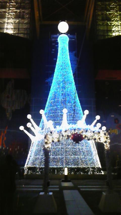 夜の海遊館 クリスマスイルミネーション2008 ツリー ブルー