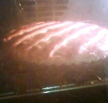 栗のパイ(焼成中)