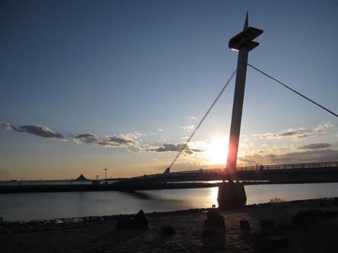 臨海公園 元日の夕陽