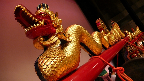 ゴングの飾りのドラゴン