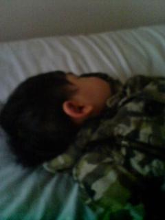 昼寝中の甥
