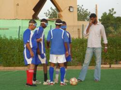 ブラインドサッカー練習