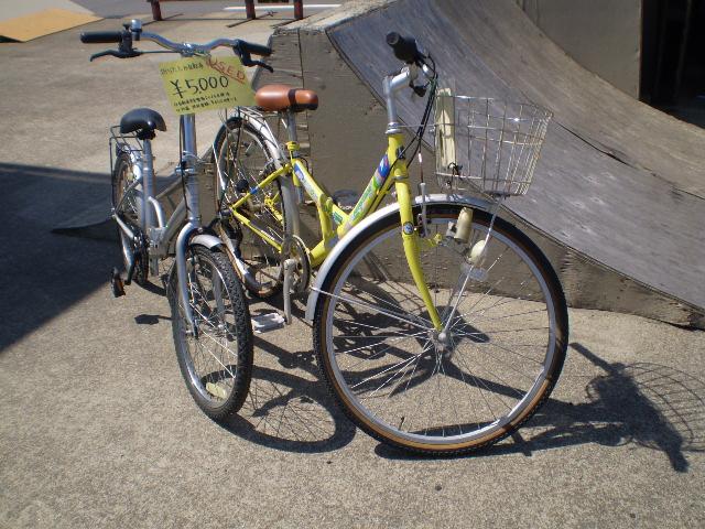 中古の自転車も通学者が1台も ...