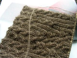 両面編み~42段かも