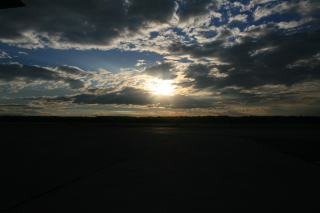 Morning sun in Milano-Malpensa