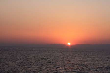 夕日が綺麗で感動した
