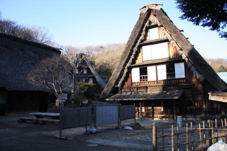 日本民家園の中の白川郷