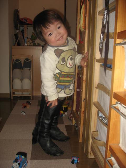 母のブーツ履いてみました(^m^)
