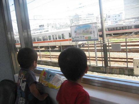 電車イッパイ見たよ♪