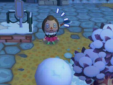 消えた雪玉が現れたっ!!