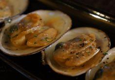 白貝のガーリック焼き