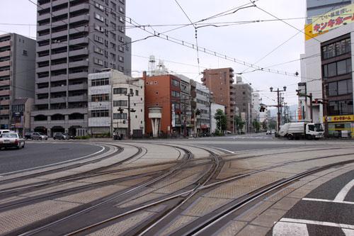 路面電車の線路が面白い!
