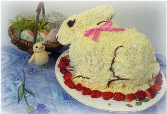 イースターバニーケーキ