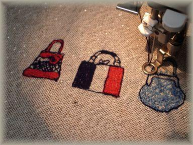 バッグ刺繍のミニバッグー2