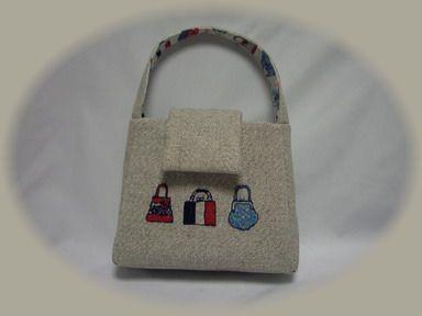 バッグ刺繍のミニバッグー3