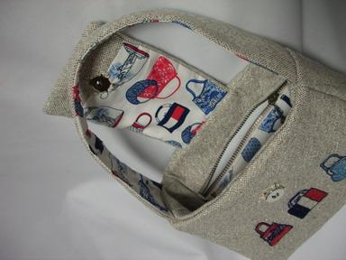 バッグ柄のバッグ内側