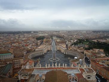 サン・ピエトロ大聖堂のクーポラより