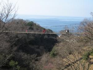 堂ヶ島らんの里 つり橋1