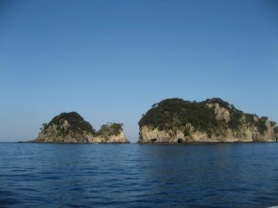 堂ヶ島 海上より2