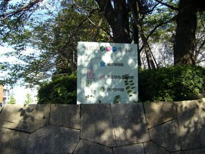 飛鳥山の3つの博物館掲示板