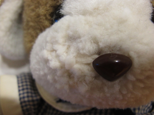 鼻横の穴 補修4