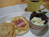 超熟イングリッシュマフィンの朝ごパン