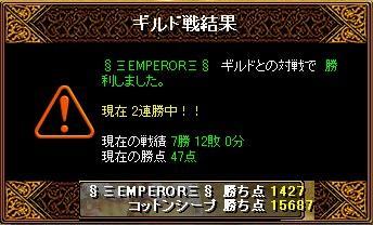 12/06 §≡ENPEROR≡§ さん 結果