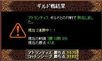 12/17 アトランティス さん 結果