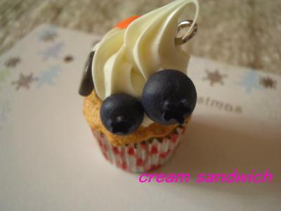 カップケーキ1のブルーベリー