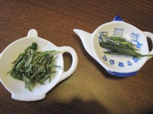 大きい茶葉
