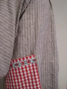 ポケットでアクセント。もちろん袖はゆったりキモノ楽チンタイプ