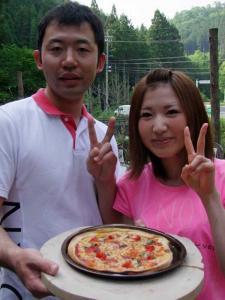 石窯ピザ作り体験