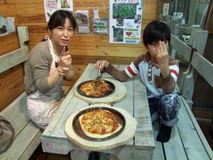石窯ピザ(マルゲリータ)づくり体験