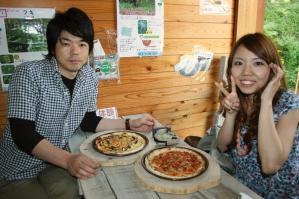 マルゲリータ&山菜ピザ♪