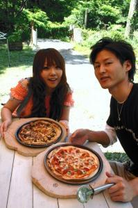 山菜ピザ&マルゲリータ♪