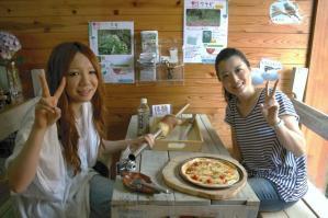 石窯ピザ&バウムクーヘン♪