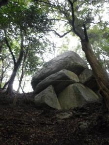 巨大な岩!