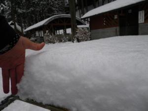 10cmくらい積雪