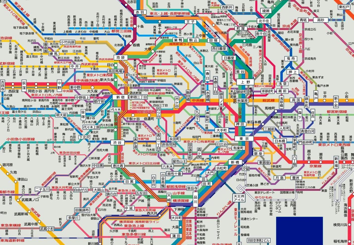 都 路線 図 東京