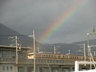 虹と特急サンダーバード